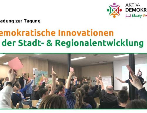Tagung  Demokratische Innovationenin der Stadt- & Regionalentwicklung
