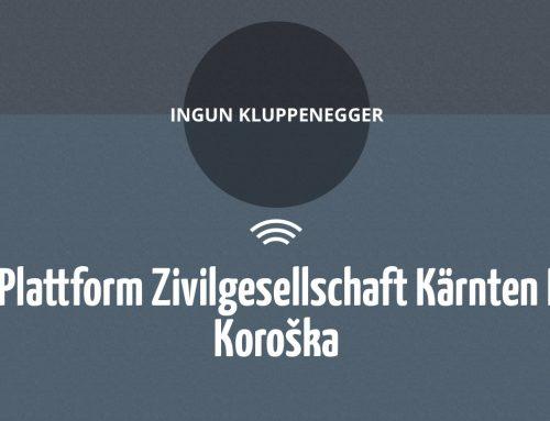 Radio Agora: INGUN KLUPPENEGGER  Plattform Zivilgesellschaft Kärnten I Koroška
